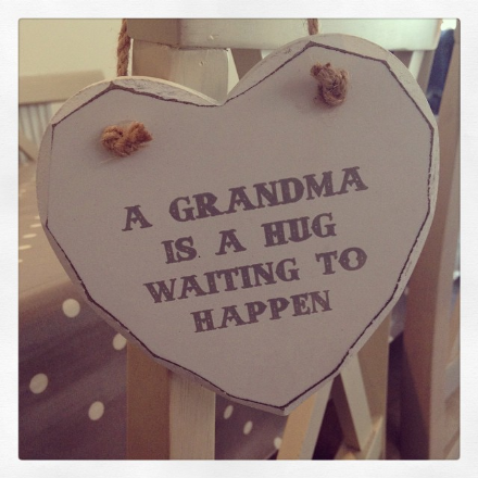 50% off A Grandma Is A Hug Waiting To Happen Hanging Wooden Heart